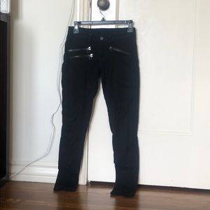Carmar Black Skinny Jeans with Zipper Detail